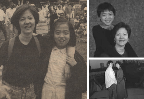 Little Sister Jesse Kwan and Big Sister Jackie Church in the 80's and 90's