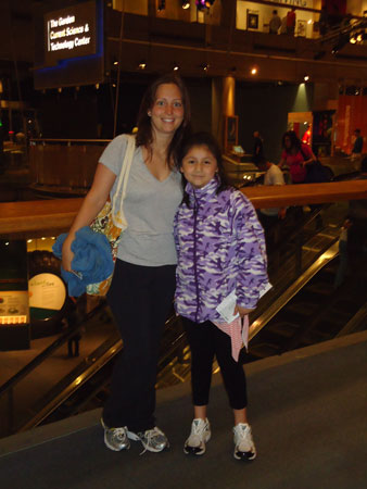 A Big and Little Sister enjoy a day at the Museum of Science