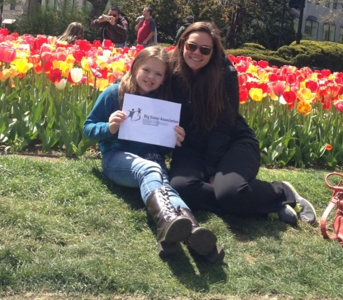 Little Sister Leanne, 11, of Charlestown and Big Sister Emily Medford's favorite thing to do in Boston is to walk through the public garden and have picnics.